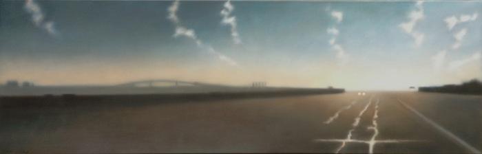 """Open Road/Big Sky, 20""""x60""""."""