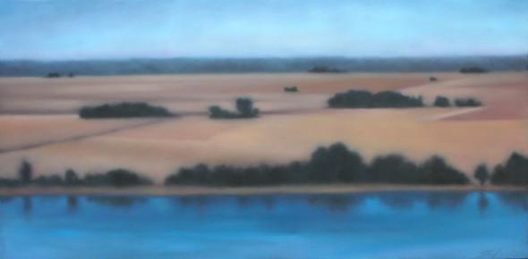 """Plains River, 24""""x48""""."""