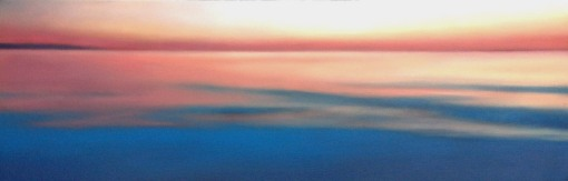 "Sunset Reflected, 12""x36""."