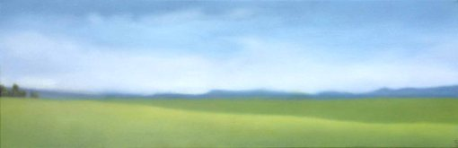 """Unreservedly Summer"", 10""x30"", $2,200."