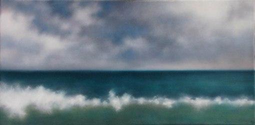 """White Wave, 12""""x24""""."""