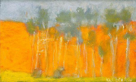 """Wolf Kahn, """"Orange Radiance"""","""