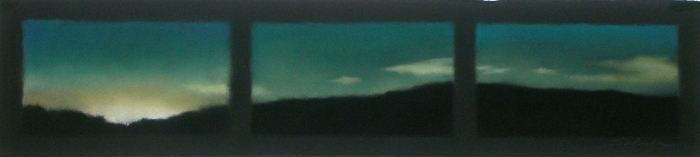 Gleam on Turquoise Sky,