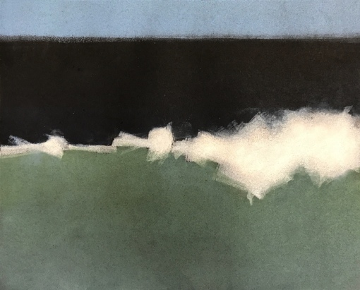 "Monotype, Wave #3, 8""x10""."
