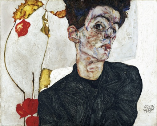 schieleself-portraitwithchineselanternplant1912