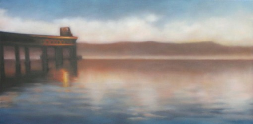 "Gleaming Bridge, 20""x40"", $3,600."
